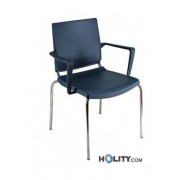 Sedia Per Meeting Con Braccioli H44908