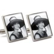 Mousie Bean Photo Cufflinks Audrey Hepburn 1070-5