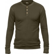 FjallRaven Lappland Merino Henley LS - Dark Olive - Manches longues S