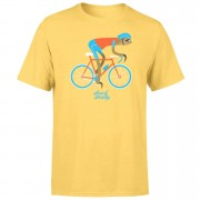 Men's Slogan Collection Slow And Steady Sloth Men's Yellow T-Shirt - M - Yellow