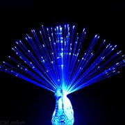 Novelty Light Toy Peacock Open Screen Fiber Optic Glowing Finger Lights For Party Decoration 3PCS Random Color