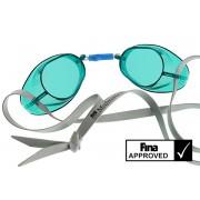 Svéd úszószemüveg sima áttetsző zöld - green, FINA jóváhagyott versenyszemüveg, Malmsten