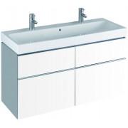 Geberit iCon Waschtischunterschrank 840420000 119x62x47,7cm, Alpin hochglanz, 2 Laden/Auszüge