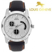 Louis Geneve Stylish Elegant White Analog Round Wrist watch for Men Boys-LG-MW-B-WHITE-051