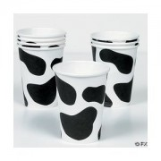 Cow Print Paper Cups Set Of 8!