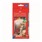 Creioane colorate eco 12 culori/set FABER-CASTELL + 1 creion Grip 2001 Fighting Knights