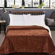 DecoKing Hnědý oboustranný přehoz na postel DecoKing Lamby, 210 x 170 cm