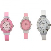 Glory Combo Of Three Watches- Pink And White Pink Watches by uttam exim1