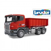 Bruder camion scania r-series container ribaltabile 3522