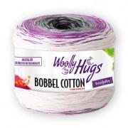 Woolly Hugs Bobbel Cotton von Woolly Hugs, Weiss/Fuchsia/Lila