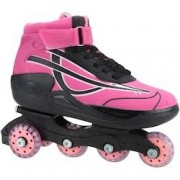 Oxer Patins Oxer Roller Boot - In Line - ROSA/PRETO