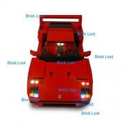 Ferrari F40 Lighting Kit for LEGO 10248 Set (LEGO Set NOT Included!) by Brick Loot