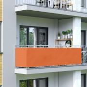 Jarolift Malla de Ocultación para Balcón, BASIC, Tejido Impermeable, Naranja, 300x90 cm