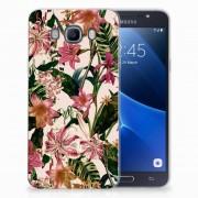 B2Ctelecom Samsung Galaxy J7 2016 TPU Case Flowers