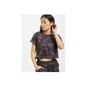 Urban Classics / t-shirt Stripes Mesh in grijs - Dames - Grijs - Grootte: Extra Large