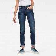 G-star RAW Femmes Midge Mid Straight Jeans Bleu foncé