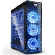 Кутия Segotep Lux, ATX/Micro ATX, черна, прозорец, без захранване