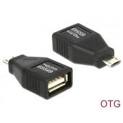 USB A(F)/B Micro-B (USB Host/OTG adapter) Delock 65549
