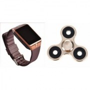 Zemini DZ09 Smart Watch and Fidget Spinner for LG OPTIMUS L3 II(DZ09 Smart Watch With 4G Sim Card Memory Card| Fidget Spinner)