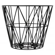 Ferm Living Wire Basket M Zwart