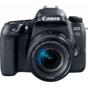 Aparat Foto DSLR Canon EOS 77D 24.2MP Wi-Fi Negru + Obiectiv EF-S 18-55mm f/3.5-5.6 IS STM