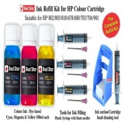 Red Star ink refill kit for HP color cartridge (678 680 802 803 818 703 704 901)