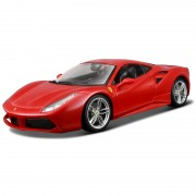 Bburago Masina Ferrari 488 GTB rosu scara 1:18