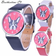 New Arrive Fashion Watch Casual Top Brand Steel Bracelet Wristwatch Watch Women Ladies Casual Montre Dog Printed Cute Hour gift