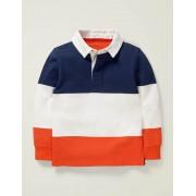 Mini Schuluniform-Navy/Orangerot Rugby-Shirt Damen Boden, 140 (9-10J), Blue