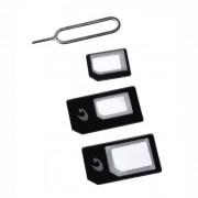 Cellular Line Cellularline Universal Sim Adapters Kit di adattatori per micro SIM e nano SIM Nero