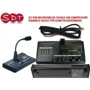DM-6000 AV-908 MICROFONO DA TAVOLO CON COMPRESSORE DINAMICO VOCALE PER ICOM/YAESU/KENWOOD
