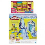 Play-Doh Frozen Enchanted Ice Palace Featuring Elsa + Play-Doh Sparkle Compound Bundle