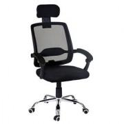 Sediadaufficio Sedia ergonomica DUNA, soostegno lombare, struttura in acciaio, colore nero