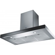 Hota Franke Crystal FCR 925 TC BK XS Glass Black Steel, Semineu dreapta, Intensiv 690 m3/h, 90 cm, Sticla neagra/Inox