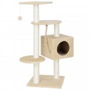 [en.casa]® Škrabadlo pro kočky - 40 x 40 x 113 cm - krémová