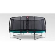 Studsmatta BERG Grand Champion 470x310 oval Green Airflow + skyddsnät Deluxe