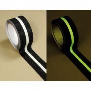 HESKINS Taśmy antypoślizgowe fotoluminescencyjne - 50 mm x 18,3 m, czarny z