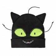 Geen Zwarte kat/poes muts met ogen en oren voor meisjes