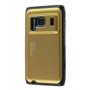 Brushed Aluminium Case for Nokia N8 - Nokia Hard Case (Gold)