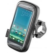 """Suport Ghidon Interphone SMSMART52 Moto Soft cu husa pentru telefoane pana in 5.2"""" (Negru)"""