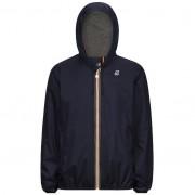 K-Way Vestes printemps/été unisexe Capuche Slimfit Paquetable Jacques Nylon Jersey Bleu Marine Foncé - XL