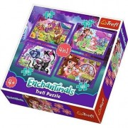 Puzzle 4in1 Enchantimals Trefl, 207 piese