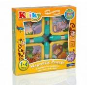 Kliky Puzzle Magnetic Animale Safari 4 bucati