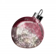 Ornament decorative light, dark red 20 cm diameter