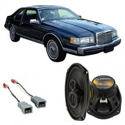 Harmony Audio Fits Lincoln Continental 1985-1989 Rear Deck Factory Replacement Harmony HA-R69 Speakers