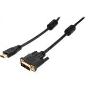 DVI na HDMI kabl Velteh DV-090 3m