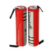Bosch UltraFire 2x 18650 batteri med solder tabs (3000 mAh, Laddningsbar)