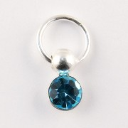 Nail Piercing, rotund cu cristal albastru, art. nr.: 76829
