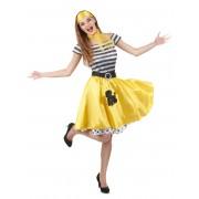 Vegaoo.se 50-talsdräkt med gul kjol för vuxna till maskeraden - S