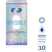 DUREX Invisible Extra Thin Extra Lubricated 10 db